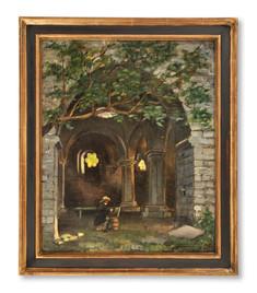 Josef Wilhelm (William) Féron (1858-1894) - Friluftsmålare i Helgeandskyrkan, Visby - (sold)