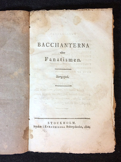 Stagnelius: Bacchanterna, 1822