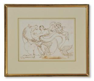 Jonas Åkerström (1759–1795) - Hippokamp med havsnymf och amorin - (sold)