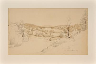 Joseph Magnus Stäck (1812-1868) - Lilla Björknäs, Nacka, 1839.