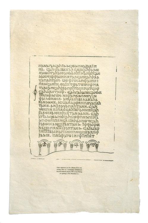 Lars Roberg: Codex Argenteus, faksimilsida 1706
