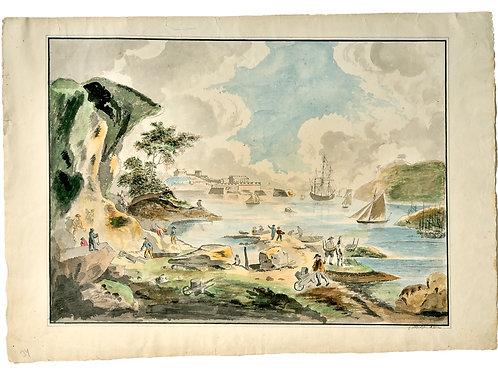Gustaf Wilhelm Carleson: Landskap, proveniens Odensviholm
