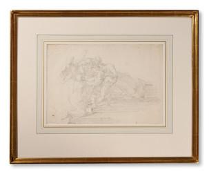 Louis Adrien Masreliez (1748–1810) - Studie till Alcestes död - (sold)