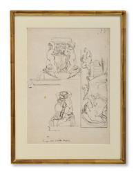 Louis Masreliez (1748–1810) - Croquis fait à Villa Borghese - (sold)