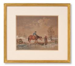 Nils Andersson (1817-1865) - Vinterscen, 1854