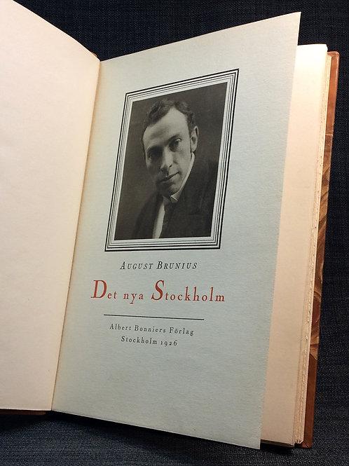 August Brunius Det nya Stockholm 1926 a
