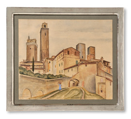 Lasse Johnson (1899-1992) - San Gimignano - (sold)