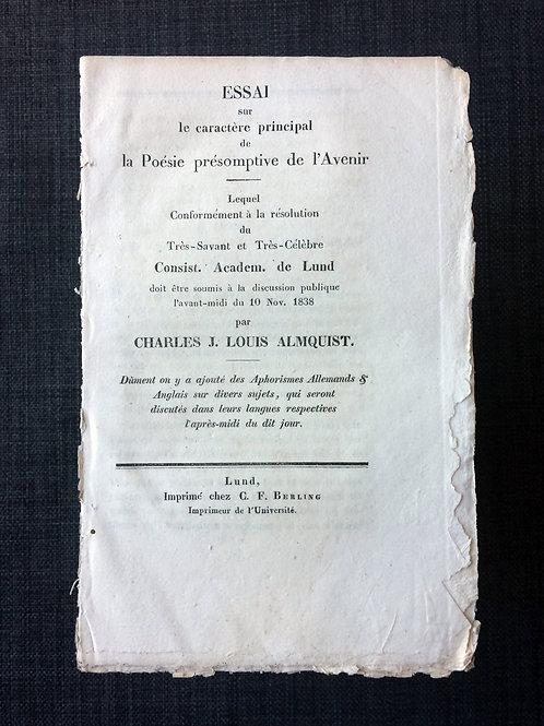 Almquists avhandling, 1838