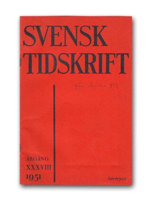 Dag Hammarskjöld, med dedikation