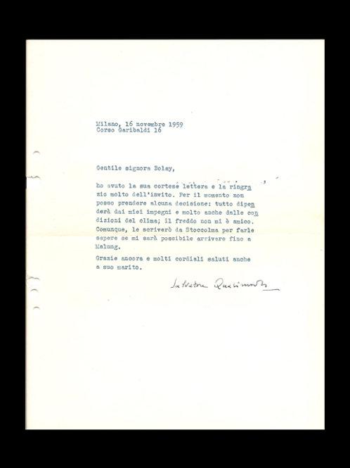 Quasimodo: Egenhändigt brev