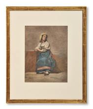 Johan Zacharias Blackstadius (1816-1898) - Italiensk flicka i folkdräkt