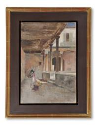 Wilhelm von Gegerfelt (1844-1920) - Loggia i Venedig - (sold)