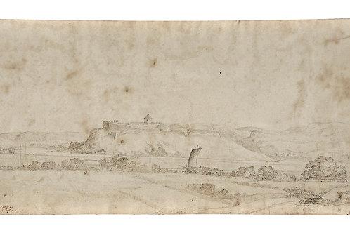 Carl Johan Fahlcrantz:Ruine af Bohus fästning, 1827