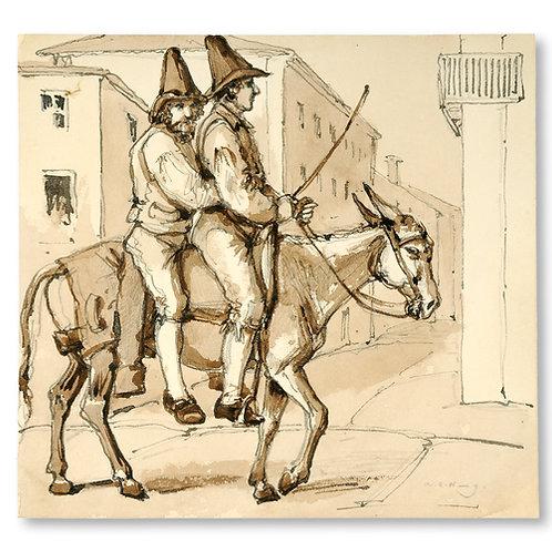 A. C. Wetterling: Herdar från den romerska campagnan ridande på en åsna