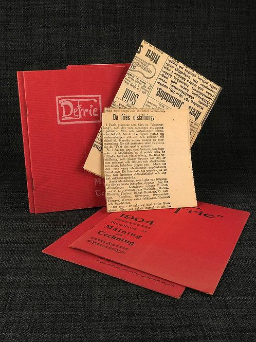 De Frie, kataloger för [1903], 1904, 1905, 1906, 1908, 1910