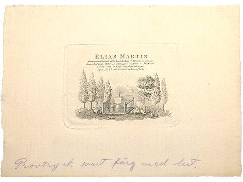 Gravvård för Elias Martin