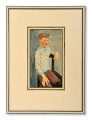 Reinhold Holtermann (1899-1960) - Gossporträtt - (sold)