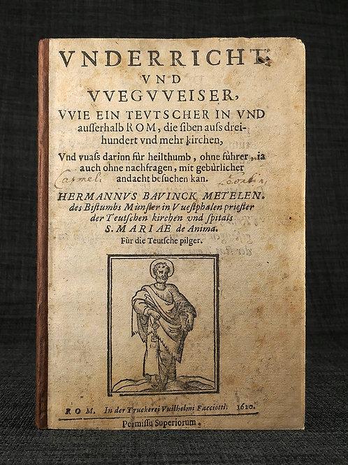 Rare guide to Rome, 1620