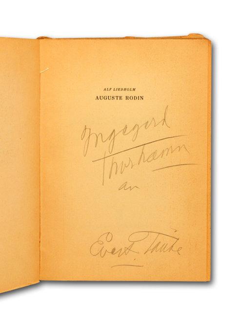 Liedholm: Auguste Rodin, dedikation av Taube