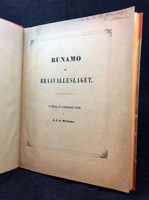 Runamo og Braavalleslaget (1844-45), med dedikation