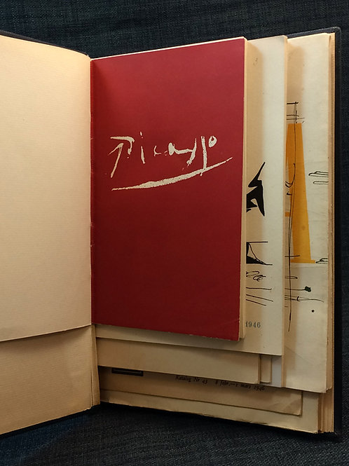 Samlingsband, 10 kataloger modern konst 1945-48