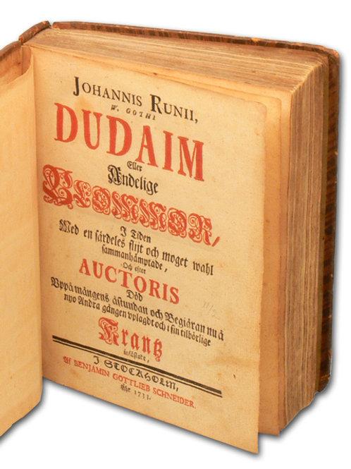 Dudaim, 1733 - Proveniens: Atterbom