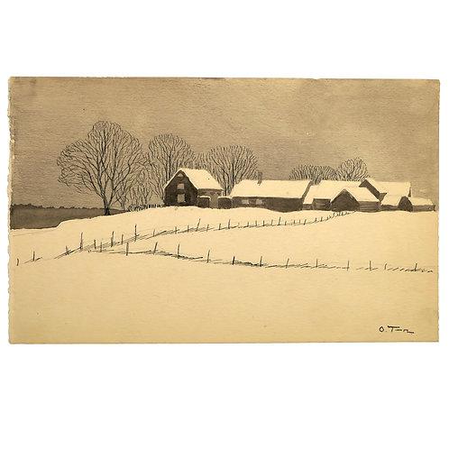 Olof Thunman: Uppländsk gård