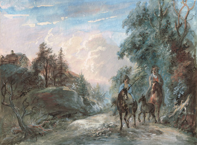 Elias Martin (1739-1818) - Ryttare i skogslandskap - (sold)