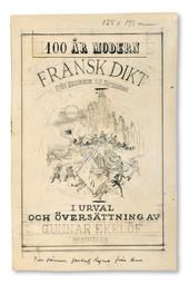 Bertil Bull Hedlund (1893-1950) - Omslag till Gunnar Ekelöf, 100 år fransk dikt - (sold)