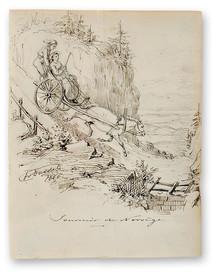 Fritz von Dardel (1817-1901) - Souvenir de Norvège, 1866