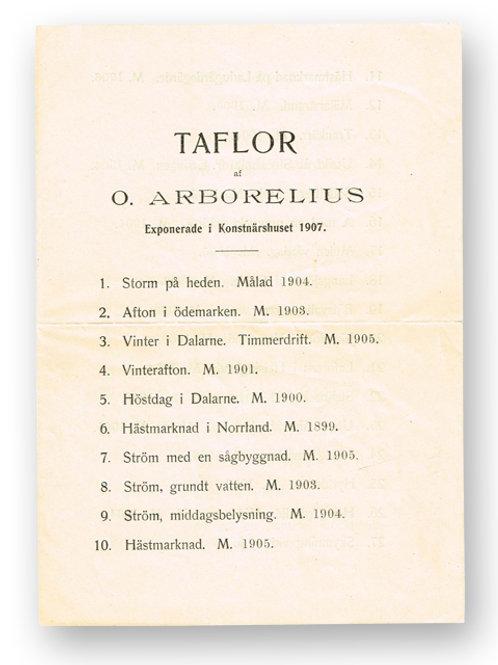Taflor af O. Arborelius, 1907