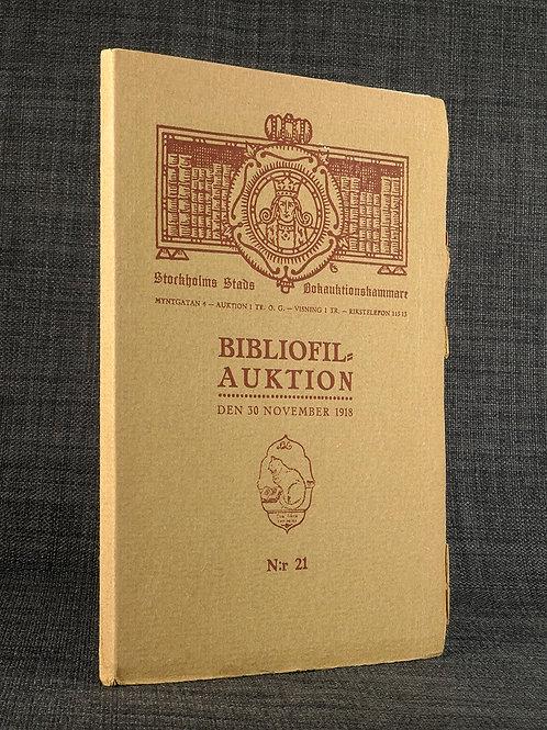 Katalog över rara böcker, ett av bibliofilupplagans 20 exemplar