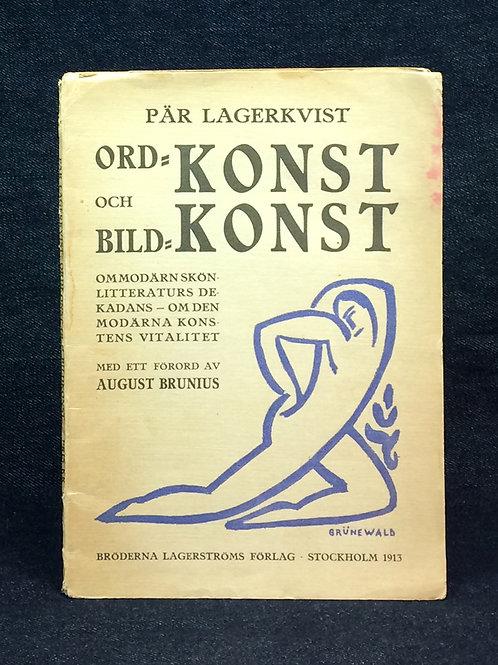 Ordkonst och Bildkonst (1913), med dedikation