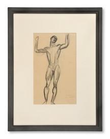 Edvard Wallenqvist (1894-1986) - En italiensk musiker, nakenstudie, 1919