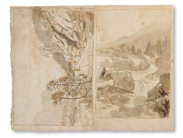 Frans Johan Roselli (1833–1868) - Landskapsstudier