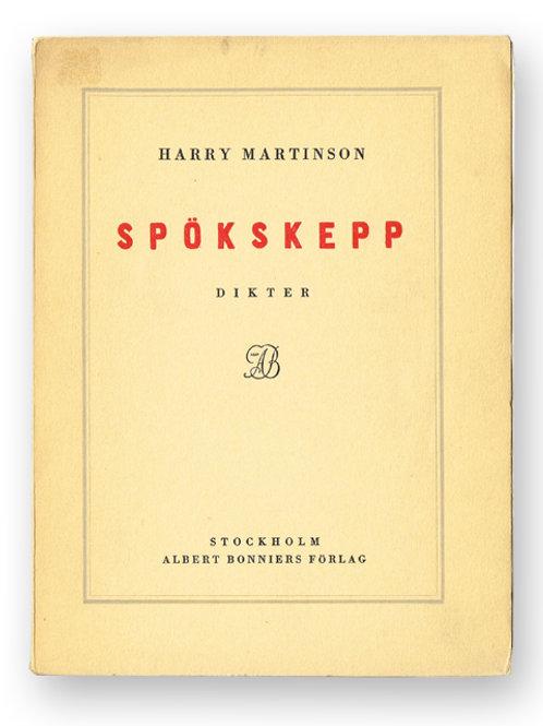 Martinson: Spökskepp, med dedikation