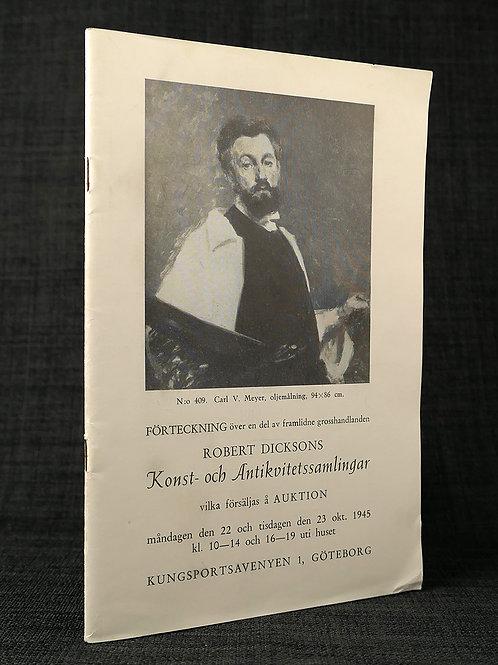 Robert Dicksons konst- och antikvitetssamlingar, 1945