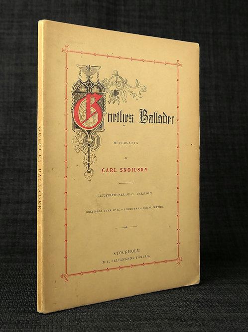 Goethe övers. av Snoilsky, med dennes dedikation
