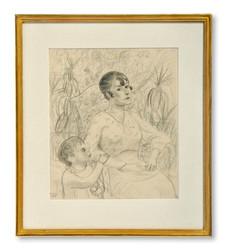 Gideon Börje (1891-1965) - Mor och barn, 1921