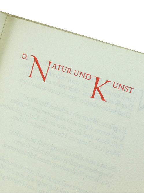 Goethe, Doves Press