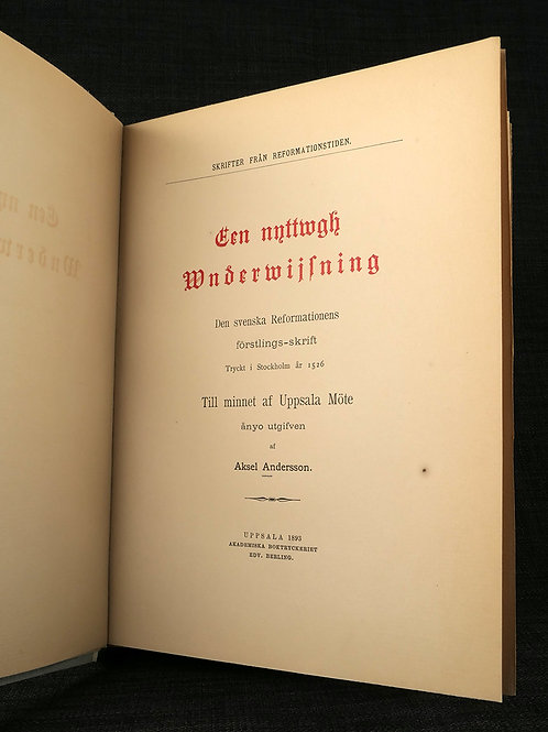 Een nyttwgh underwijsning 1526 /1893