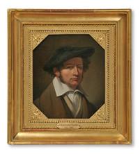 Johan Gustaf Sandberg (1782–1854) - Självporträtt i blå barett