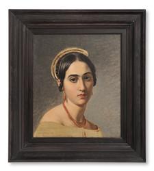 Olof Johan Södermark (1790-1848) - Regina. Romersk flicka med korallsmycken - (sold)