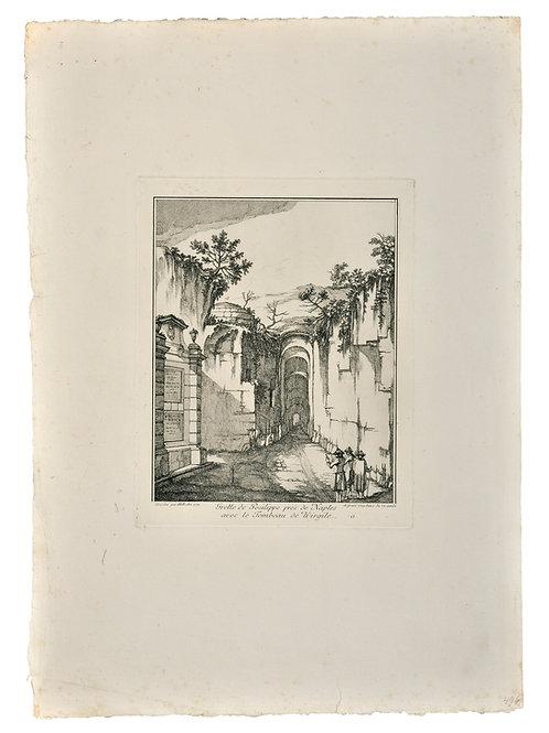 Jean Eric Rehn: Posilippos grotta med Vergilii grav, Neapel
