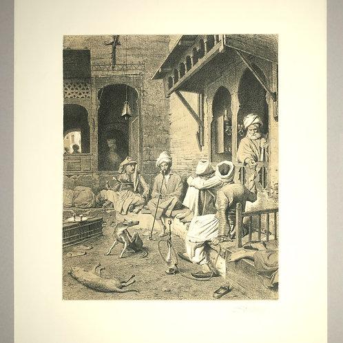 Georg von Rosen: Signerad glasradering, 1868