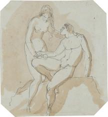 Jonas Åkerström (1759–1795) - Adam och Eva, detalj - (sold)