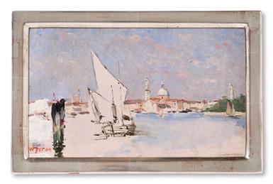 Josef Wilhelm (William) Féron (1858-1894) - Lagunen i Venedig - (sold)