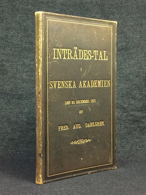 Dahlgren: Inträdes-tal, 1871