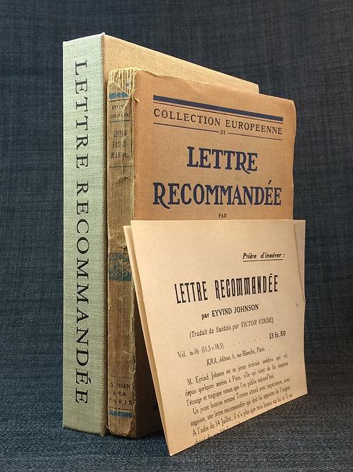 Lettre recommandée, förhandsexemplar