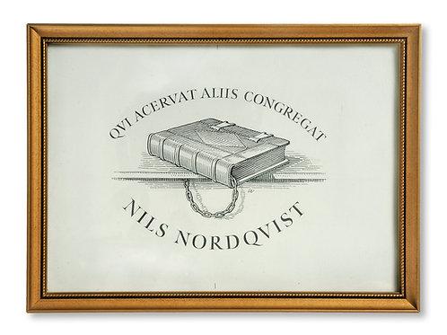 Originalteckning för Nils Nordqvists exlibris